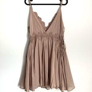 LUSH Blush Pink Mini Dress size M. NWT